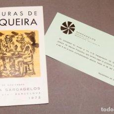 Coleccionismo Papel Varios: PINTURAS DE PESQUEIRA - 1972 - GALERÍA SARGADELOS BARCELONA. Lote 271013958