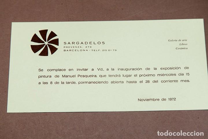 Coleccionismo Papel Varios: PINTURAS DE PESQUEIRA - 1972 - Galería Sargadelos Barcelona - Foto 2 - 271013958