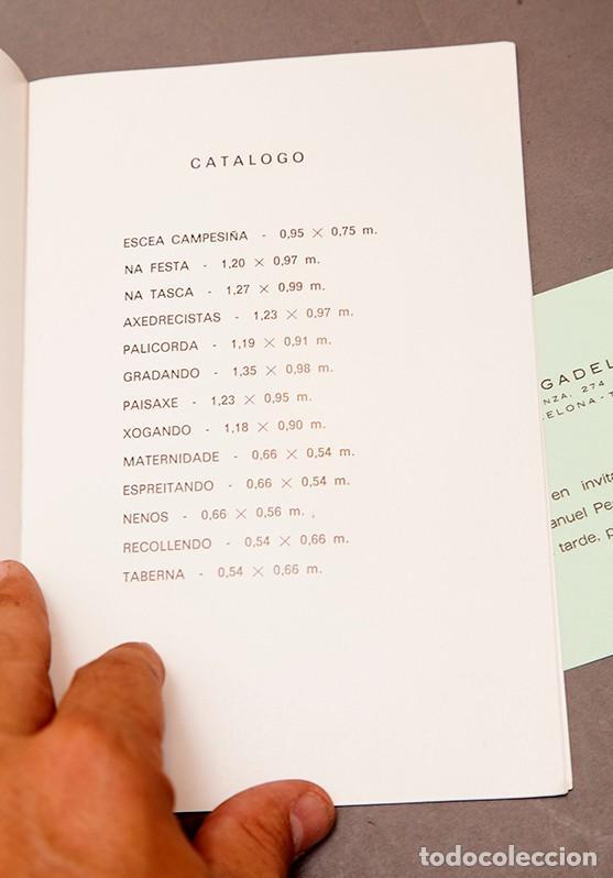Coleccionismo Papel Varios: PINTURAS DE PESQUEIRA - 1972 - Galería Sargadelos Barcelona - Foto 4 - 271013958