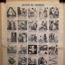 Coleccionismo Papel Varios: AUCA - ALELUYAS DEL TRIÁNGULO - SIGLO XIX - 30.50 X 41.50 CM. Lote 273118368
