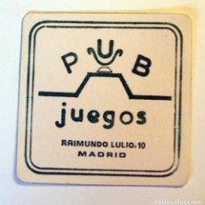 Outros artigos de papel: ANTIGUO POSAVASOS-PUB JUEGOS MADRID. Lote 273213318