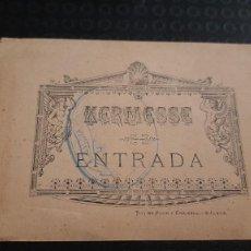 Coleccionismo Papel Varios: ANTIGUA ENTRADA KERMESSE MALAGA. Lote 273290103
