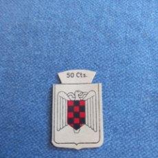 Altri oggetti di carta: EMBLEMA CORRIENTE AUXILIO SOCIAL 50 CTS FALANGE ESPAÑOLA. Lote 297096028