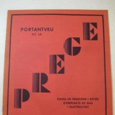 Coleccionismo Papel Varios: PRE GUERRA CIVIL-REVISTA PREGE-ANY 1936-Nº2-CAIXA EMPLEATS GAS I ELECTRICITAT-VER FOTOS-(V-22.839). Lote 273742643