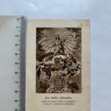 Altri oggetti di carta: ESTAMPA PUBLICITARIA. SAN ISIDRO LABRADOR. SEPULCRO EN LA S. I. CATEDRAL DE MADRID. JOSÉ VIDAL.. Lote 273747388