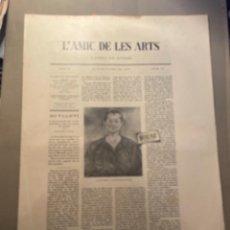 Coleccionismo Papel Varios: VANGUADIAS - REVISTA L'AMIC DE LES ARTS - GASETA DE SITGES ANY II Nº19 - 31 D'OCTUBRE 1927 DALI MIRÓ. Lote 274399618
