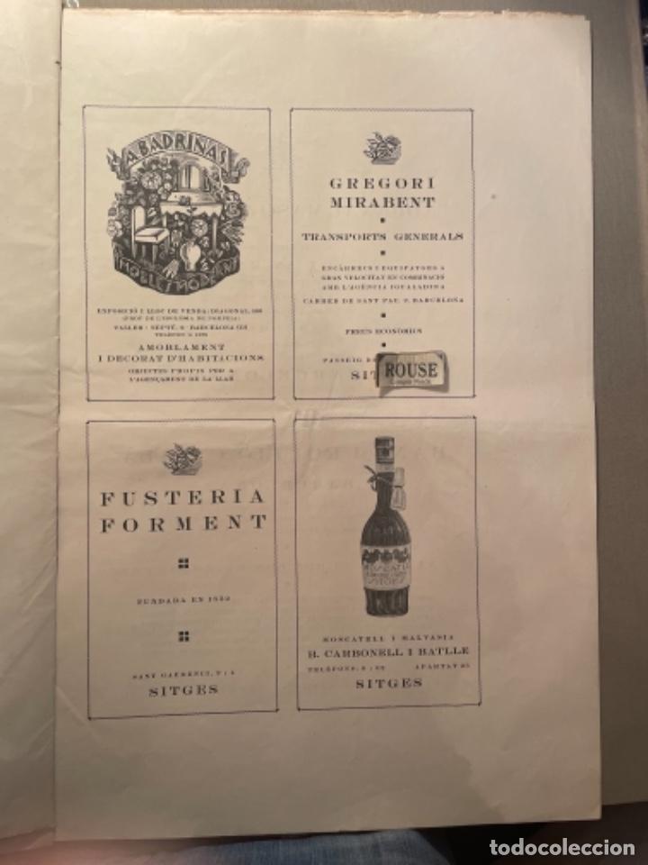 Coleccionismo Papel Varios: VANGUADIAS - REVISTA LAMIC DE LES ARTS - GASETA DE SITGES ANY II Nº17 - 31 DAGOST 1927 KRTU per J. - Foto 10 - 274406943