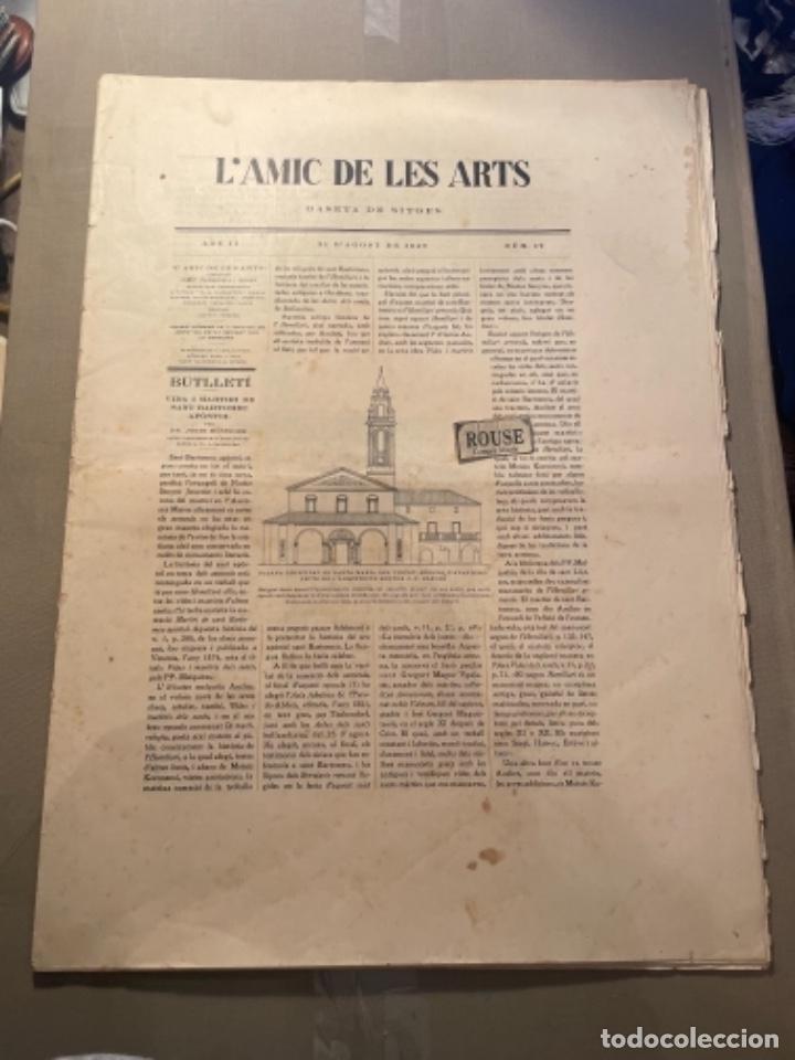 VANGUADIAS - REVISTA L'AMIC DE LES ARTS - GASETA DE SITGES ANY II Nº17 - 31 D'AGOST 1927 KRTU PER J. (Coleccionismo en Papel - Varios)