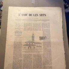 Coleccionismo Papel Varios: VANGUADIAS - REVISTA L'AMIC DE LES ARTS - GASETA DE SITGES ANY II Nº17 - 31 D'AGOST 1927 KRTU PER J.. Lote 274406943
