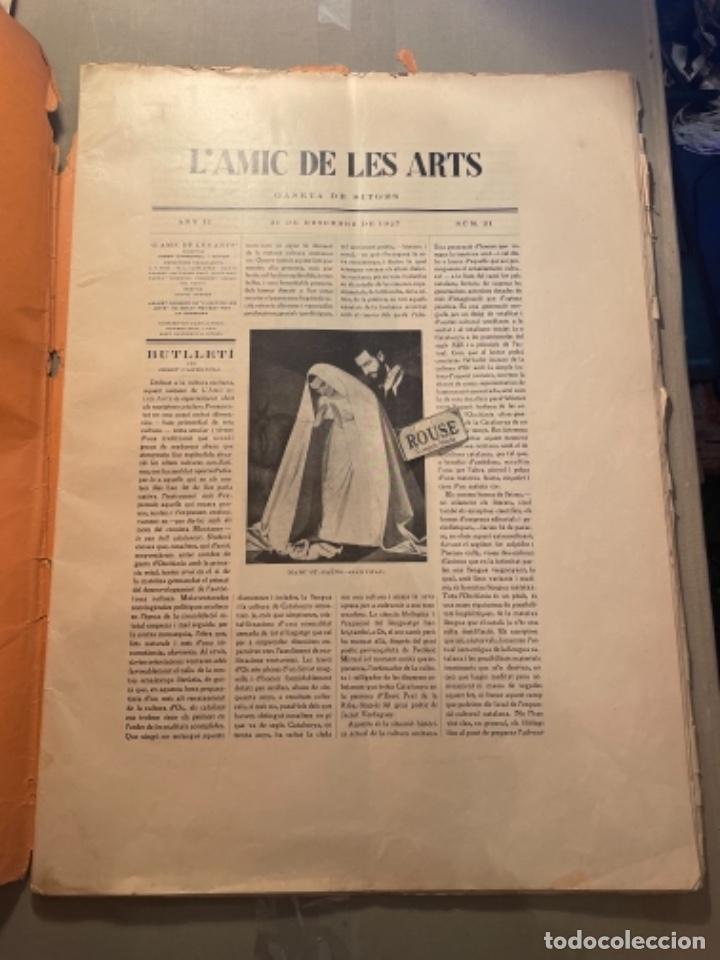 Coleccionismo Papel Varios: VANGUADIAS - REVISTA LAMIC DE LES ARTS - GASETA DE SITGES ANY II Nº12 - 31 DESEMBRE1927 DEDICAT CU - Foto 2 - 274414048