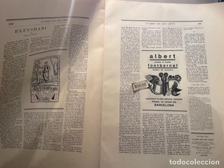 Coleccionismo Papel Varios: VANGUADIAS - REVISTA LAMIC DE LES ARTS - GASETA DE SITGES ANY II Nº12 - 31 DESEMBRE1927 DEDICAT CU - Foto 9 - 274414048