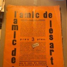 Coleccionismo Papel Varios: VANGUADIAS - REVISTA L'AMIC DE LES ARTS - GASETA DE SITGES ANY II Nº12 - 31 DESEMBRE1927 DEDICAT CU. Lote 274414048