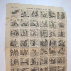 Coleccionismo Papel Varios: TRABAJOS Y MISERIAS DE LA VIDA-AÑO 1875-AUCA MUY ANTIGUA-VER FOTOS-(V-22.593). Lote 274418533