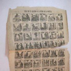 Coleccionismo Papel Varios: VIDA DE UN GALLEGO O LA RUEDA DE LA FORTUNA-AÑO 1875-AUCA MUY ANTIGUA-VER FOTOS-(V-22.595). Lote 274418853