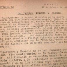 Coleccionismo Papel Varios: II GUERRA MUNDIAL BOLETINES DESDE 1939,1943,1944,1945.. Lote 275052588