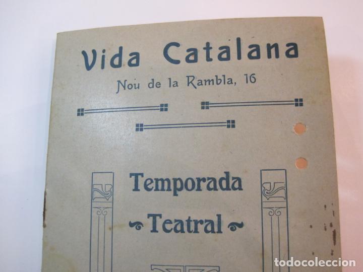 Coleccionismo Papel Varios: VIDA CATALANA-PROGRAMA TEMPORADA TEATRAL 1917 1918-VER FOTOS-(K-3719) - Foto 2 - 275944218