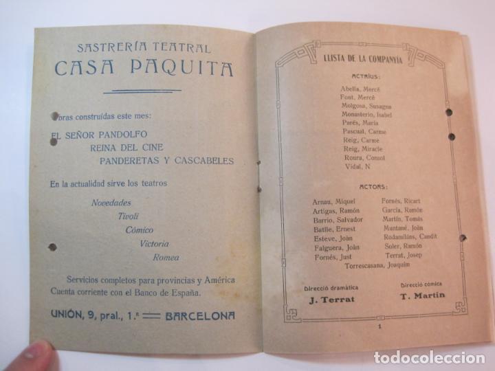 Coleccionismo Papel Varios: VIDA CATALANA-PROGRAMA TEMPORADA TEATRAL 1917 1918-VER FOTOS-(K-3719) - Foto 6 - 275944218