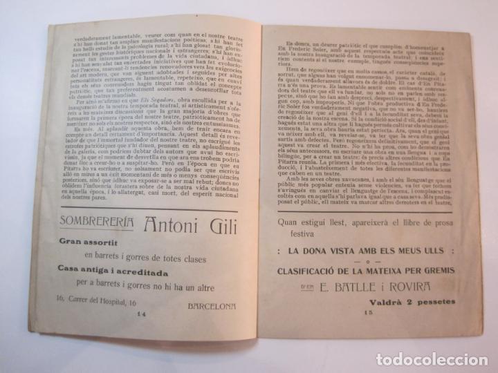 Coleccionismo Papel Varios: VIDA CATALANA-PROGRAMA TEMPORADA TEATRAL 1917 1918-VER FOTOS-(K-3719) - Foto 14 - 275944218