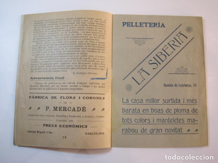 Coleccionismo Papel Varios: VIDA CATALANA-PROGRAMA TEMPORADA TEATRAL 1917 1918-VER FOTOS-(K-3719) - Foto 15 - 275944218