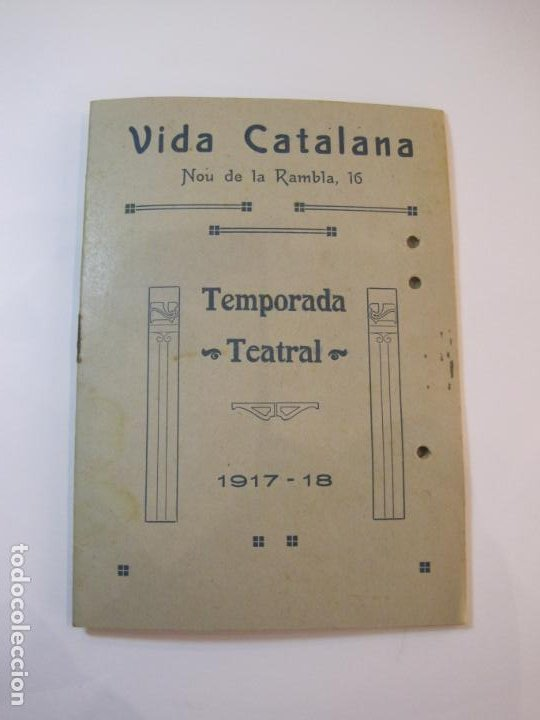 VIDA CATALANA-PROGRAMA TEMPORADA TEATRAL 1917 1918-VER FOTOS-(K-3719) (Coleccionismo en Papel - Varios)