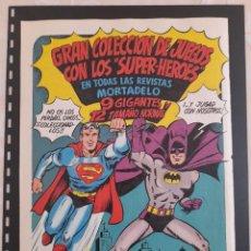 Collectionnisme Papier divers: ANUNCIO PUBLICIDAD AÑOS 70 SÚPERMAN BATMAN HEROES JUEGOS BRUGUERA SUPERPAM. Lote 276194563