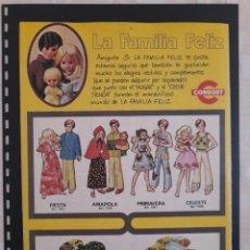 Collectionnisme Papier divers: ANUNCIO PUBLICIDAD AÑOS 70 JUGUETES CONGOST FAMILIA FELIZ MUÑECAS. Lote 276196788