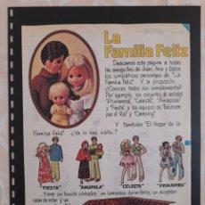 Collectionnisme Papier divers: ANUNCIO PUBLICIDAD AÑOS 70 JUGUETES CONGOST FAMILIA FELIZ MUÑECAS. Lote 276196868