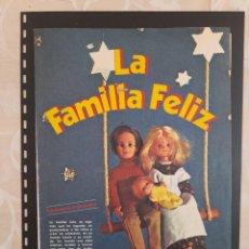 Collectionnisme Papier divers: ANUNCIO PUBLICIDAD AÑOS 70 JUGUETES CONGOST FAMILIA FELIZ MUÑECAS. Lote 276197043