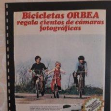 Collectionnisme Papier divers: ANUNCIO PUBLICIDAD AÑOS 70 BICICLETAS ORBEA CÁMARA KODAK. Lote 276199298