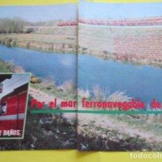 Coleccionismo Papel Varios: ARTICULO 1973 NUDOS FERROVIARIOS - VENTA DE BAÑOS PALENCIA - RENFE FERROCARRIL LOCOMOTORA. Lote 276440588