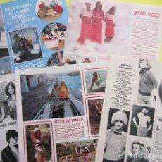 Coleccionismo Papel Varios: 5 HOJAS MODA AÑO 1974 MODELO MANIQUIES MISS MISSES VINTAGE SASTRE MODISTA. Lote 276474353