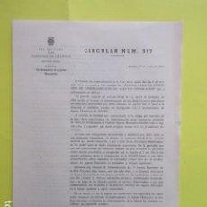 Coleccionismo Papel Varios: CIRCULAR NUM. 317 RENFE 1965 - NOMBRAMIENTO AGENTES HONORARIOS - 4 PAGINAS. Lote 276477248