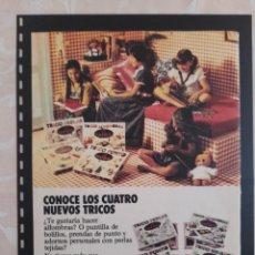 Collectionnisme Papier divers: ANUNCIO PUBLICIDAD AÑOS 70 JUGUETES MUÑECAS SRTA PEPIS. Lote 276768018