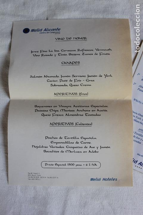 Coleccionismo Papel Varios: HOTEL MELIA ALICANTE 1993 PRECIOS PARA EVENTOS EN SUS SALONES - Foto 4 - 276801073