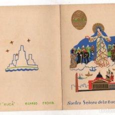 Coleccionismo Papel Varios: TARJETA FELICITACION NAVIDAD NUESTRA SEÑORA DE LOS BUENOS AIRES. C. 1950.. Lote 276997383