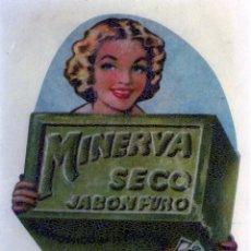 Coleccionismo Papel Varios: COPIA FOTOGRAFICA DE LA PUBLICIDAD(JABON MINERVA FABRICADO EN MALAGA) .. Lote 277120128