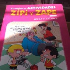 Coleccionismo Papel Varios: CUADERNO ACTIVIDADES ZIPI Y ZAPE. Lote 277279938