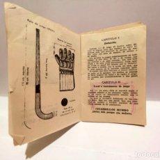 Coleccionismo Papel Varios: LIBRETO REGLAS JOCKEY SOBRE PATINES PUBLICIDAD DE TABACO RUMBO Y GOYA. Lote 277289333