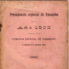Coleccionismo Papel Varios: PRESUPUESTO ESPECIAL DE ENSANCHE 1902. Lote 277528168