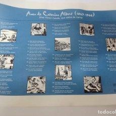 Coleccionismo Papel Varios: POSTER AUCA DE CATERINA ALBERT 1869-1966. Lote 277730283