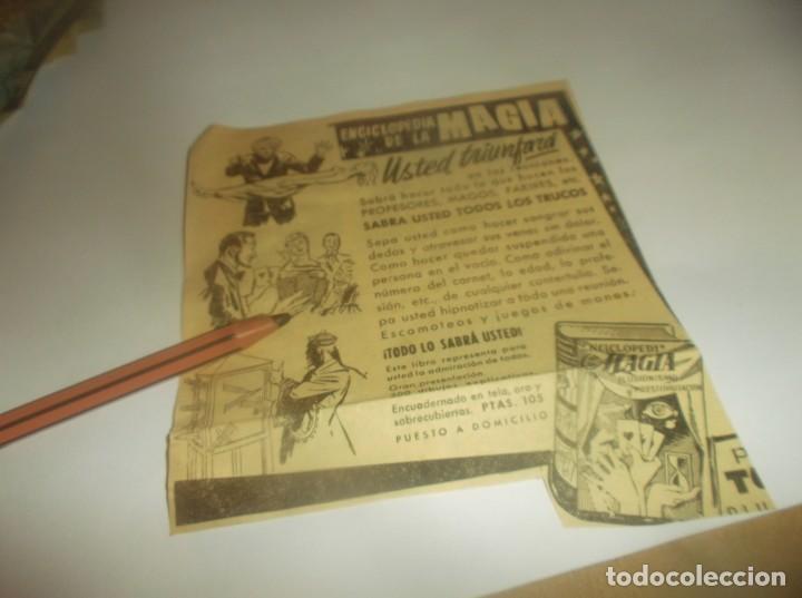 RECORTE PUBLICIDAD AÑO 1962 - ENCICLOPEDIA DE LA MAGIA (Coleccionismo en Papel - Varios)