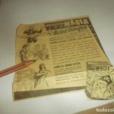 Coleccionismo Papel Varios: RECORTE PUBLICIDAD AÑO 1962 - ENCICLOPEDIA DE LA MAGIA. Lote 278625033