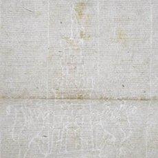Coleccionismo Papel Varios: HOJA 300 X 210 MM. APROX. EN BLANCO CON INTERESANTE MARCA DE AGUA / FILIGRANA DOS LEONES Y CASTILLO. Lote 278835188