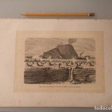 Coleccionismo Papel Varios: LAMINA LIBRO ORIGINAL CIRCA 1870 FIG.349 EL JORULLO, VOLCAN DE MEJICO SEGUN HUMBOLDT. Lote 279418713