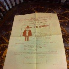 Coleccionismo Papel Varios: HOJA DOS CARAS (LANAS HISPANIA RECOMIENDA LA MARCA EL REBAÑO) REVERSO: CÓMIC PEDRUCHO. Lote 279528543