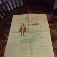 Coleccionismo Papel Varios: HOJA DOS CARAS (LANAS HISPANIA RECOMIENDA LA MARCA EL REBAÑO) REVERSO: CÓMIC PEDRUCHO.... Lote 279528648