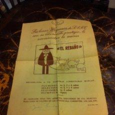 Coleccionismo Papel Varios: HOJA DOS CARAS (LANAS HISPANIA RECOMIENDA LA MARCA EL REBAÑO) REVERSO: CÓMIC PEDRUCHO.... Lote 279529513