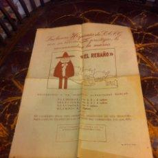 Coleccionismo Papel Varios: HOJA DOS CARAS (LANAS HISPANIA RECOMIENDA LA MARCA EL REBAÑO) REVERSO: CÓMIC PEDRUCHO.... Lote 279534733
