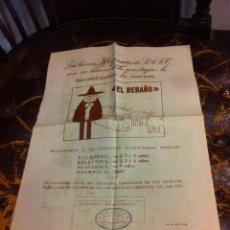 Coleccionismo Papel Varios: HOJA DOS CARAS (LANAS HISPANIA RECOMIENDA LA MARCA EL REBAÑO) REVERSO: CÓMIC PEDRUCHO.... Lote 279548058