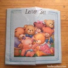 Coleccionismo Papel Varios: PAPEL Y SOBRES, EN SU CARPETA, AÑOS 80 INFANTIL.. Lote 283287383